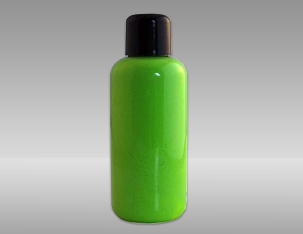 Green fluorescent paint to apply speckle pattern